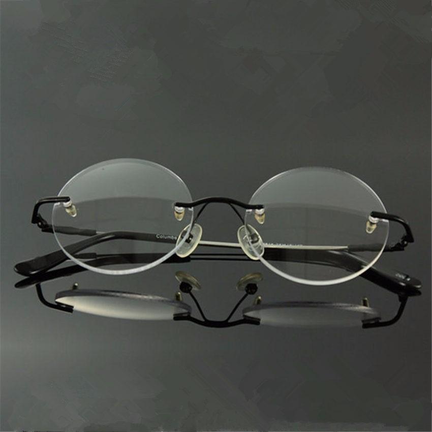 2ee69fc61a4eb armação óculos sem aro redondo - steve jobs - john lennon. Carregando zoom.