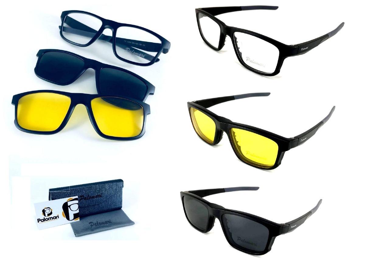 armação óculos sol p grau clip on 3 em 1 polarizado c  trava. Carregando  zoom. bc93261035