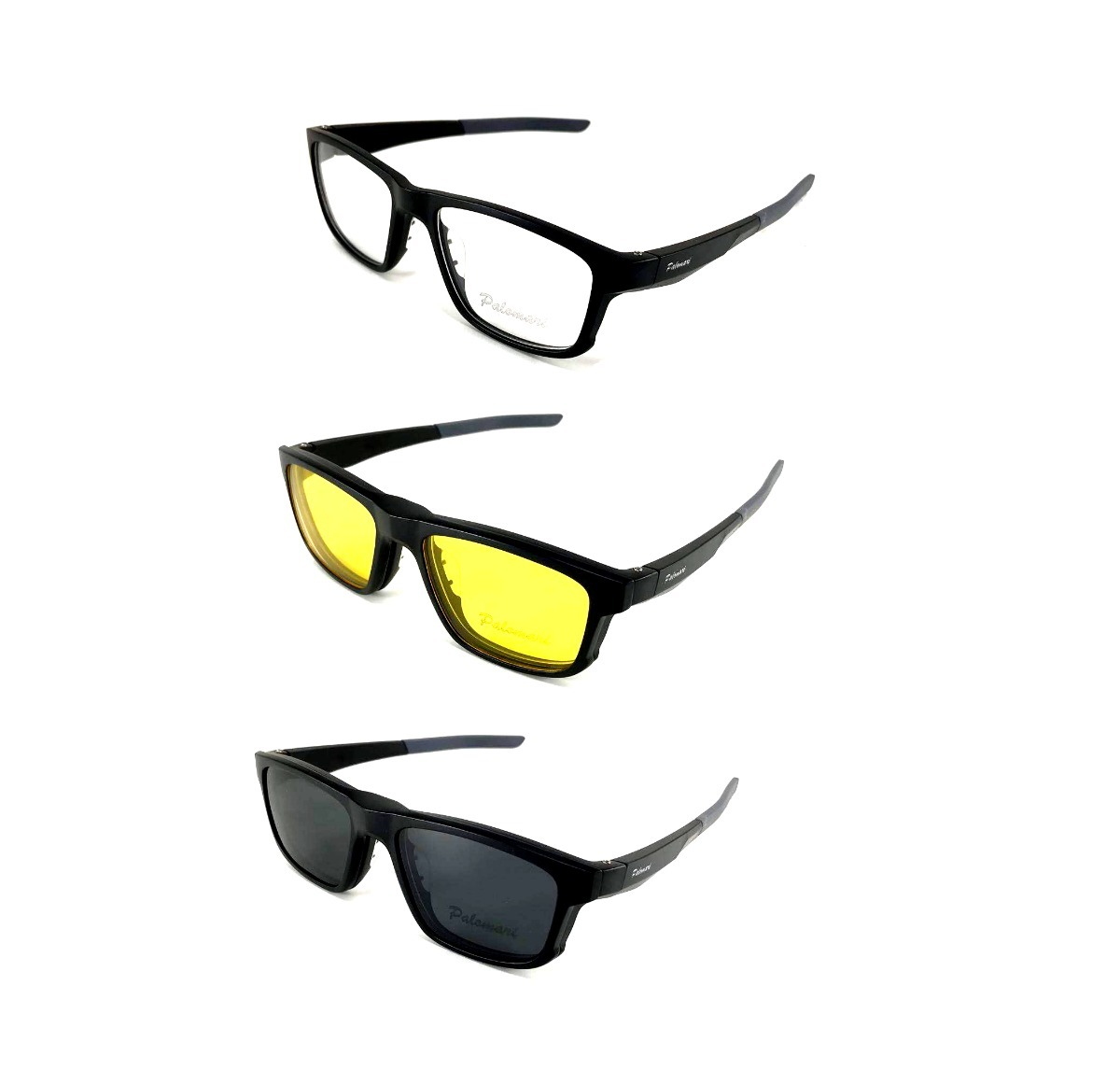 7729bd7bbbe29 armação óculos sol p grau clip on 3 em 1 polarizado c  trava. Carregando  zoom.