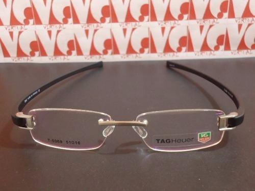 Armação Para Óculos De Grau Tag Heuer Silicone Preta Th-5069 - R  89 ... 07982aec98