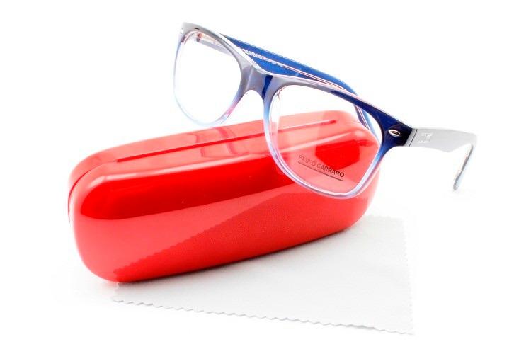 1bb9928701168 Armação Oculos Tamanho Grande Aceato Paulo Carraro - 6015 - R  120 ...