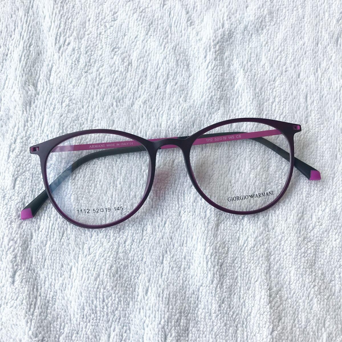 915c7ecca5a0f Armação Óculos Titânio Acetato Redondo Masculino E Feminino - R  99 ...
