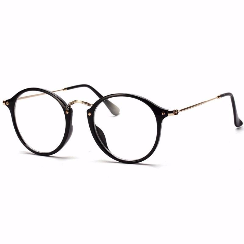 c4e1e38396811 Armação Óculos Vintage Feminino Preto Rosa Leopardo - R  53,90 em ...