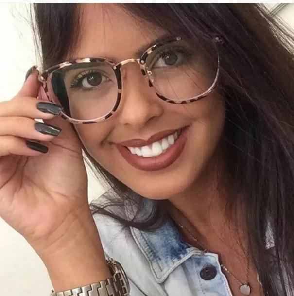532d9156d6829 Armação Oculos Vintage Grau Feminino Resistente Gato Barato - R  79 ...