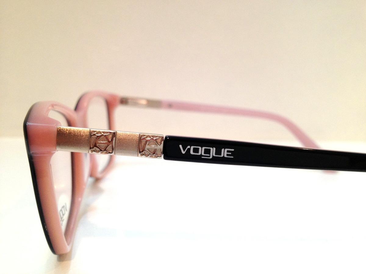 ... acetato preto c  rosa. Carregando zoom... armação óculos vogue.  Carregando zoom. b959ce1c74
