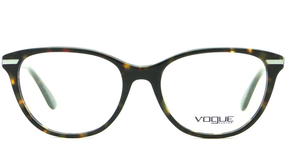 cbabeeb7c87e6 Armação Para Óculos De Grau Vogue Vo 2937 Feminina Retrô - R  379