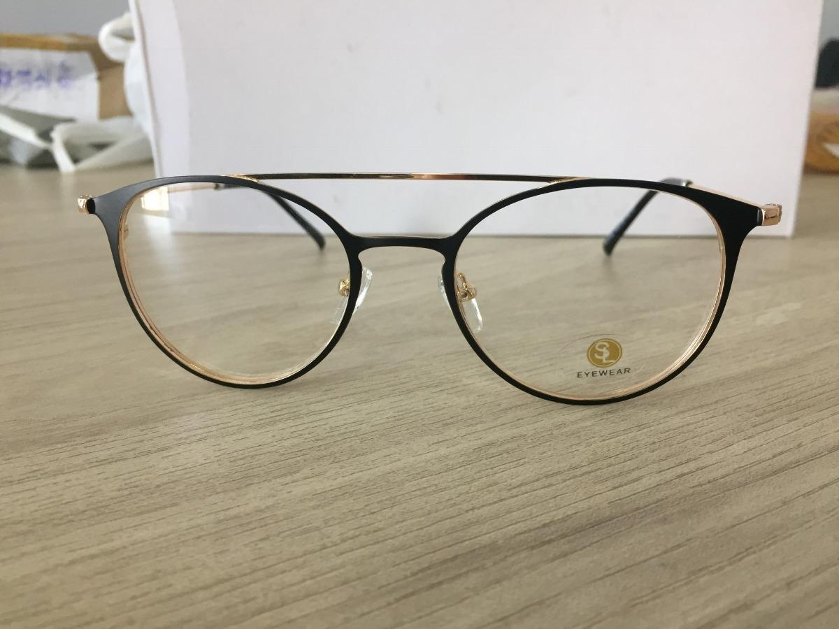 39409f3ea5c27 armação p grau feminina óculos da moda metal gatinho lk046. Carregando zoom.
