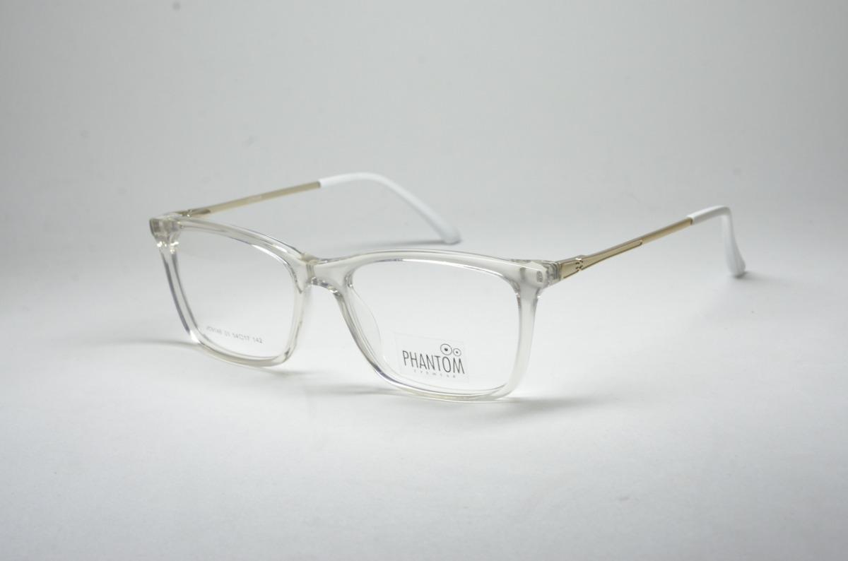 bc16c2c9f9db1 Armação P  Grau Óculos Feminino Tr Transparente Estiloso - R  74