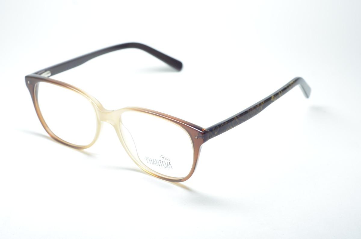 7c82d22c2 Armação P/ Grau Óculos Masc/fem Redondo Acetato Moda Phantom - R$ 74 ...