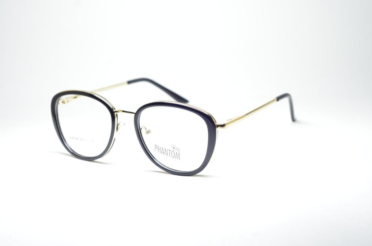 cab3c07d272 Armação P Grau Óculos Redondinho Pequeno Preto Moda Feminina - R  79 ...