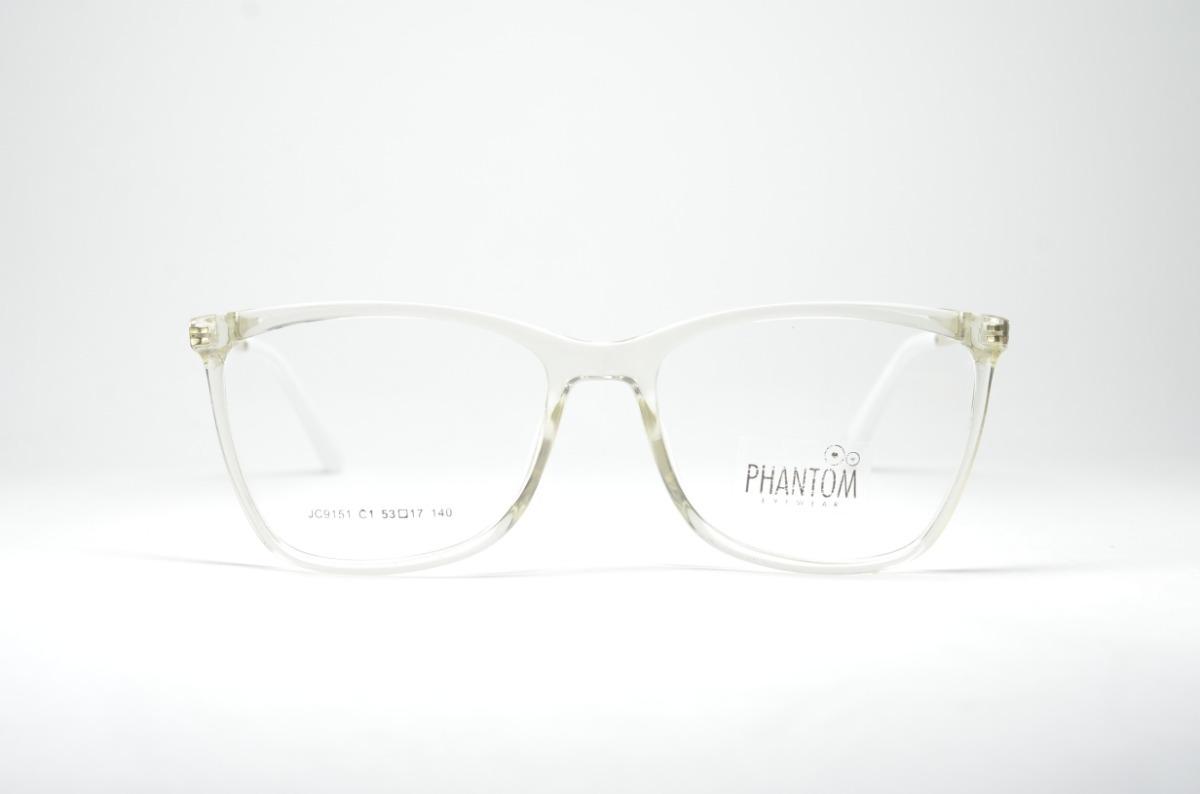 d404d5687a285 Armação P Grau Óculos Transparente Feminino Tr Quadrado Moda - R  74 ...