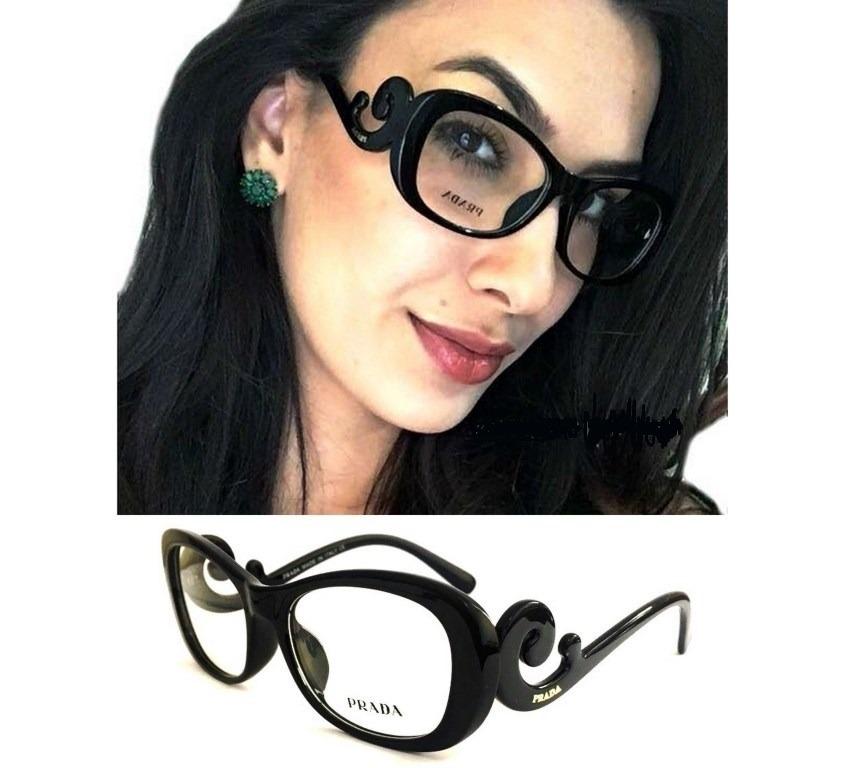 armação p  oculos de grau baroque feminino preto + case. Carregando zoom. 98c8d65f48