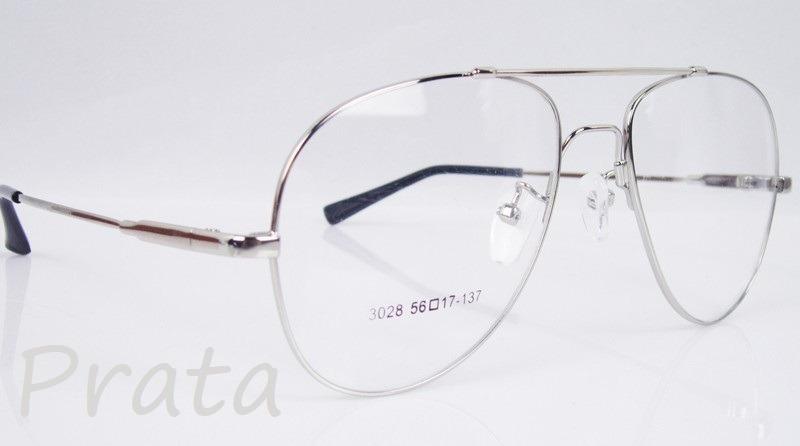 0634d522a0e40 armação p  óculos de grau em titânio memory - modelo aviador. Carregando  zoom.