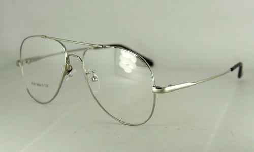 faf428aedc999 Armação P  Óculos De Grau Em Titânio Memory - Modelo Aviador - R  65 ...