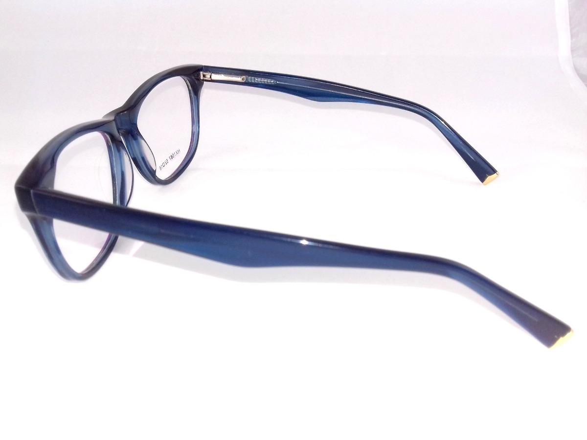 47c3b09dc8dc3 armação p  óculos de grau feminino azul arredondada fashion! Carregando zoom .