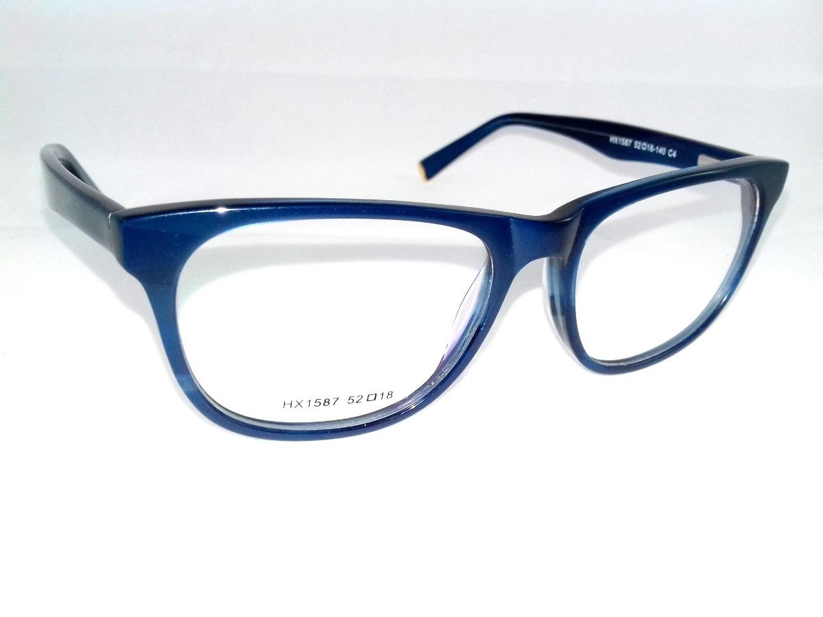 c5aa75306 armação p/ óculos de grau feminino azul arredondada fashion! Carregando  zoom.
