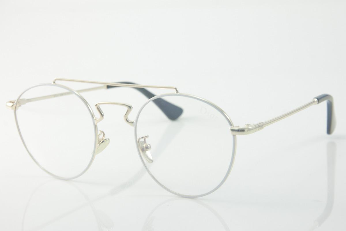 9651a313afcfd armação p  óculos de grau feminino dior vintage redondo 1298. Carregando  zoom.