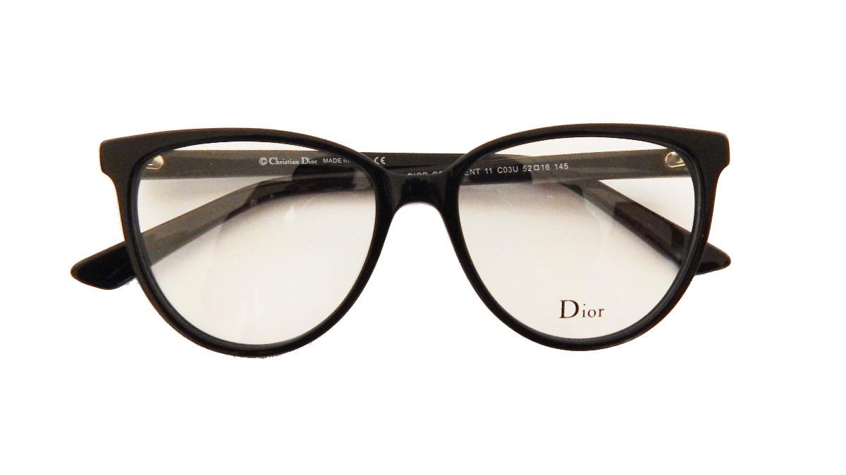 a38e1b7dafded Armação P  Óculos De Grau Feminino Dior11 Preto Original - R  89