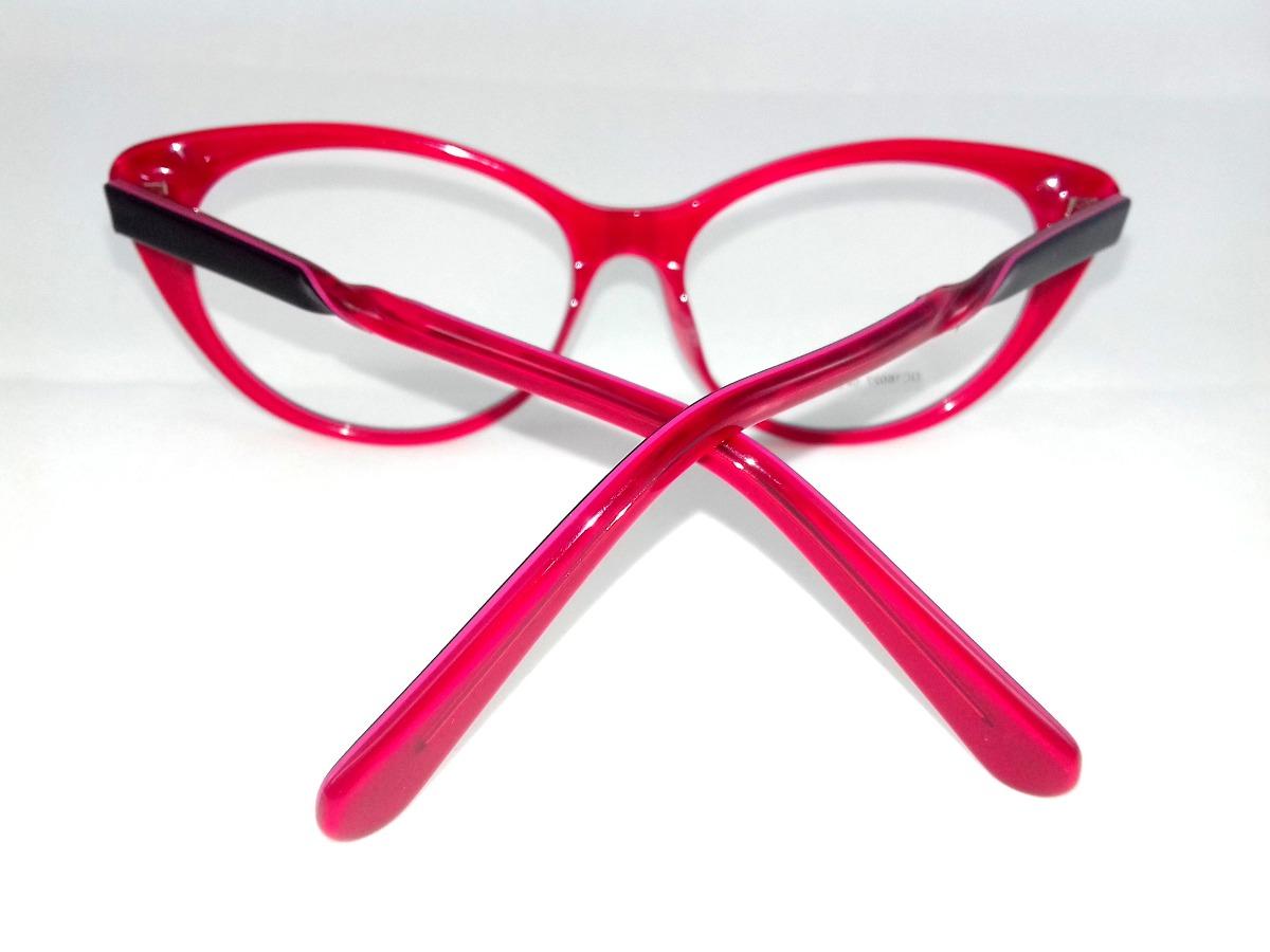1b9c1a0c34bc4 armação p  óculos de grau feminino gatinho fundo vermelho! Carregando zoom.