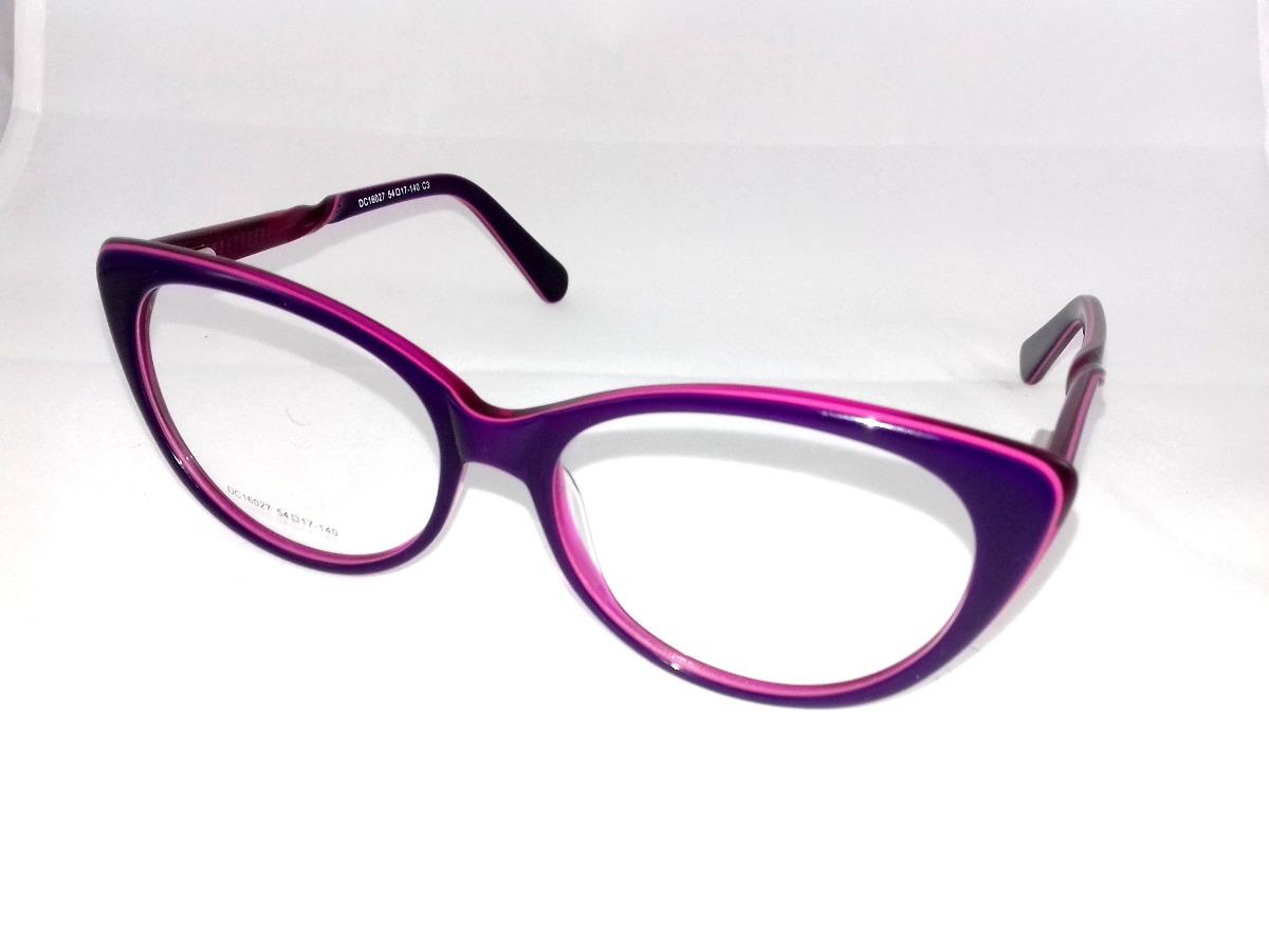 6abe895015917 armação p  óculos de grau feminino gatinho roxo italy design. Carregando  zoom.