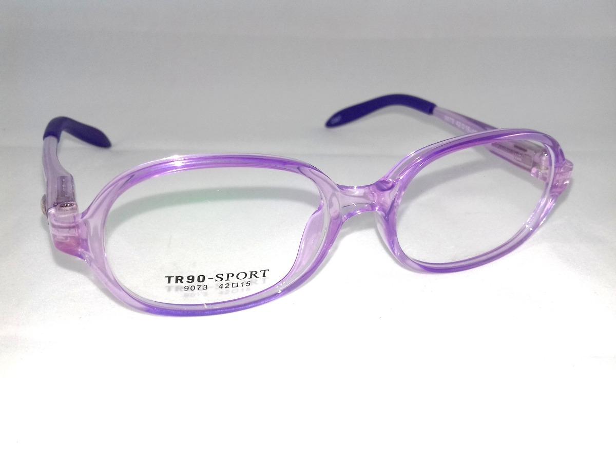 429ef6a21f0f8 Armação P  Óculos De Grau Infantil Pequena Roxo Em Acetato