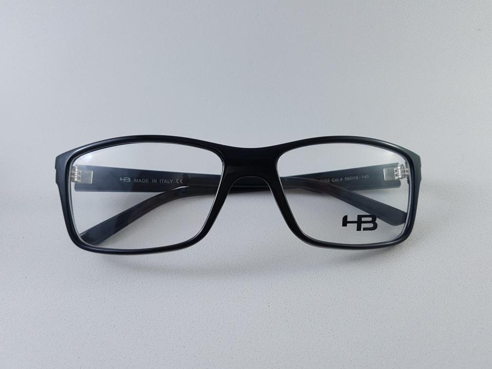 01ff61424caf2 armação p  óculos de grau masculina esporte hb preto. Carregando zoom.