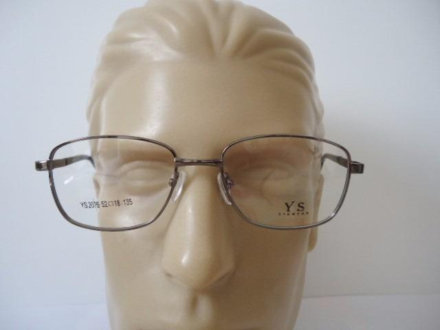 59152e4d Armação P Óculos De Grau Masculina Ys 2076 Metal Grafite - R$ 53,90 ...