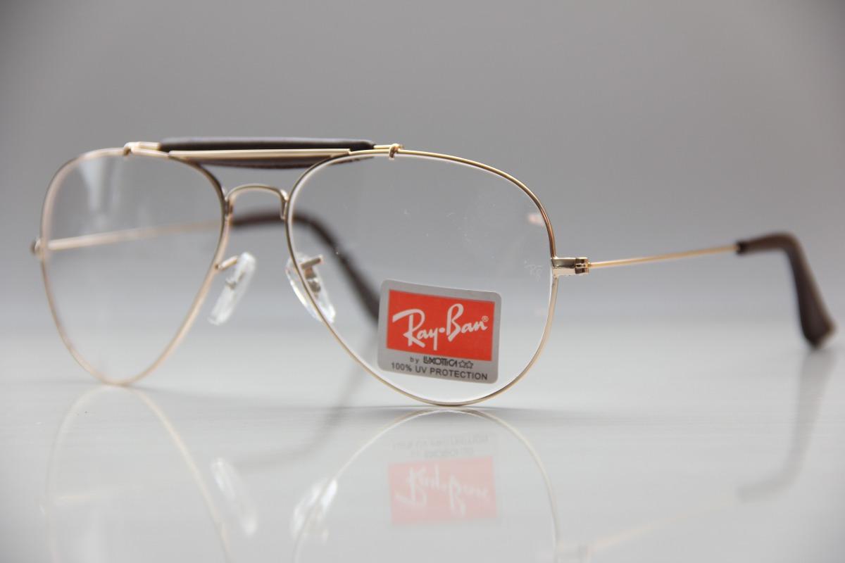 af1e8a2bd8e3d armação p  óculos de grau masculino feminino ray ban aviador. Carregando  zoom.