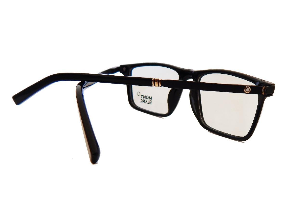 d30ae836636bf armação p  óculos de grau masculino mont blanc 8282 clássico. Carregando  zoom.