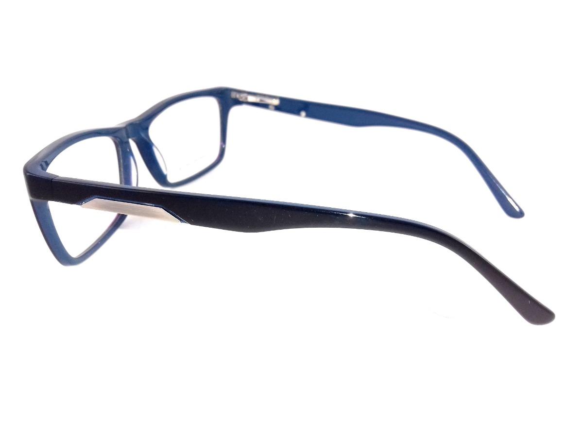 4ecb1f5694001 armação p  óculos de grau masculino preto com fundo azul top. Carregando  zoom.