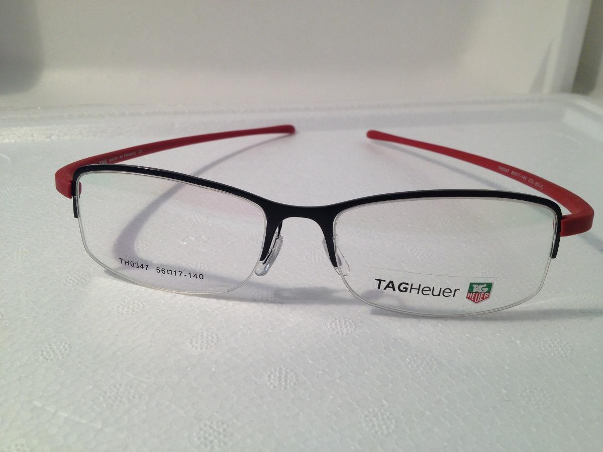 d940808c946d0 Armação P  Óculos De Grau Meio Aro Tag Heuer Th0347 - R  135