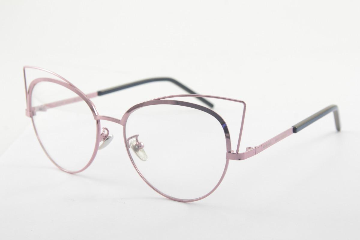 Armação P  Óculos De Grau Metal Marc Jacobs Gatinho - R  57,00 em ... f1c4375ebe