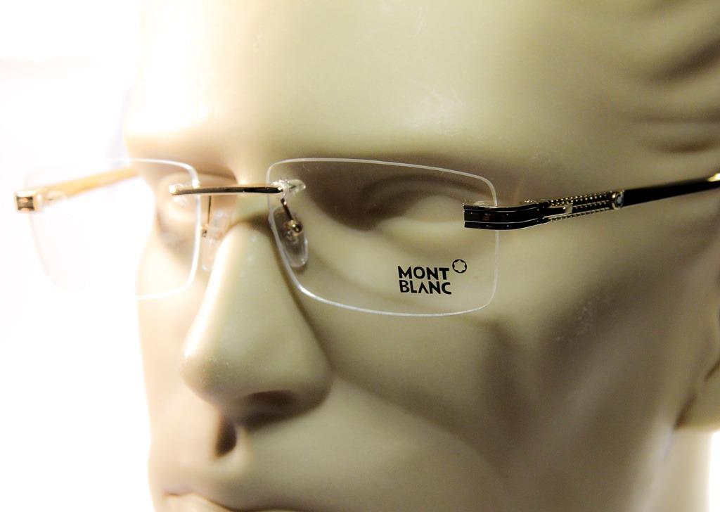 c75b3e09b42a9 armação p  óculos de grau mont blanc original 3 partes. Carregando zoom.