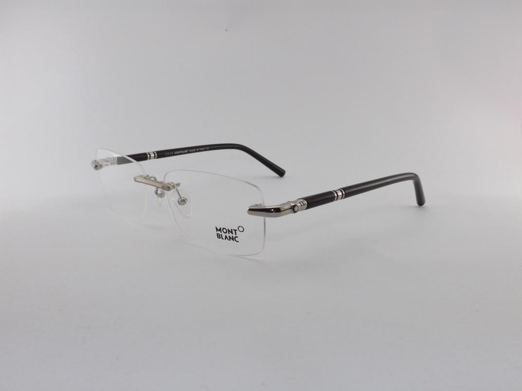 418ee4af8 Armação P/ Óculos De Grau Mont Blanc Sem Aro Preto Mb476 - R$ 235,00 ...