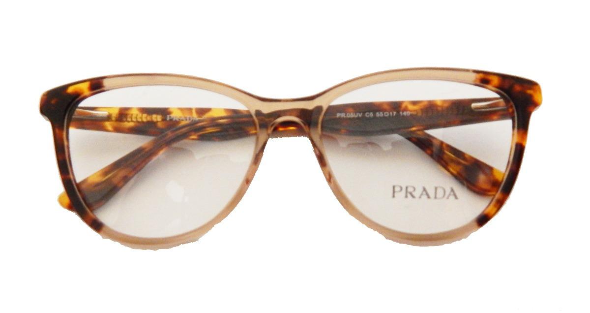 af76ac8b4261b armação p  óculos de grau prada pr05 uv feminino original. Carregando zoom.
