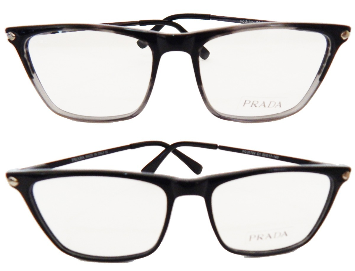 a8b0a76e4221d armação p  óculos de grau prada quadrado masculino feminino. Carregando  zoom.