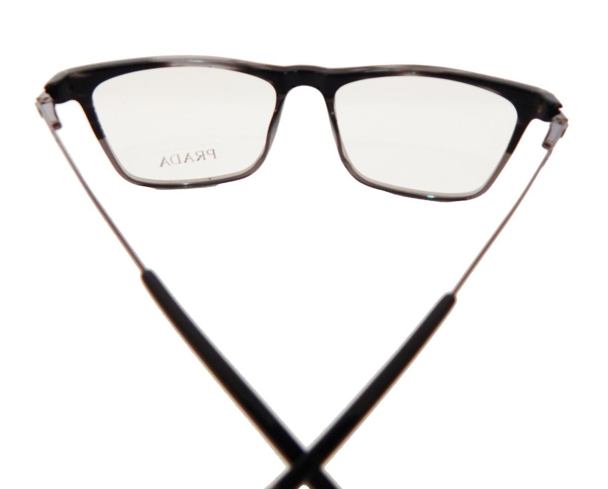 2374e91773672 armação p  óculos de grau prada quadrado masculino feminino. Carregando  zoom.