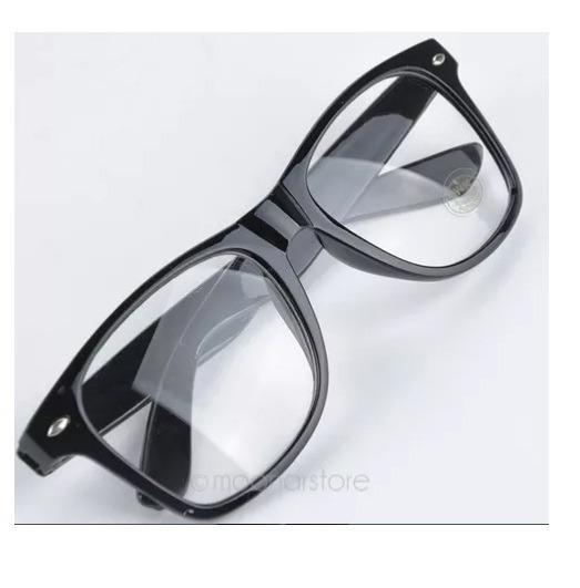 283be28fad133 Armação P  Óculos De Grau. Retangular Grande Geek Nerd Retrô - R  34 ...