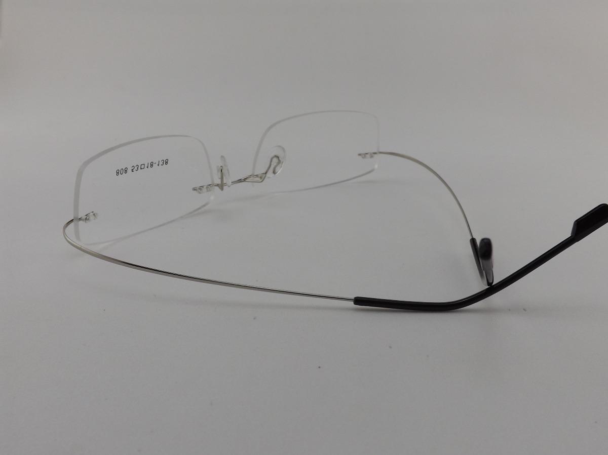 8897a312d685c armação p  óculos de grau sem aro em titanium - promoção vip. Carregando  zoom.