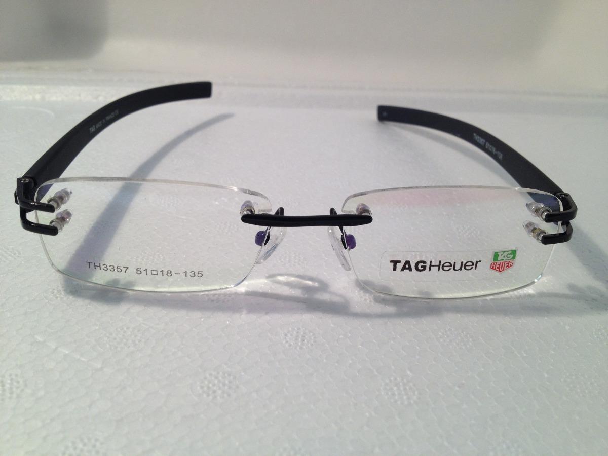 Armação P  Óculos De Grau Sem Aro Tag Heuer 3357 - R  140,00 em ... e6f4bab319