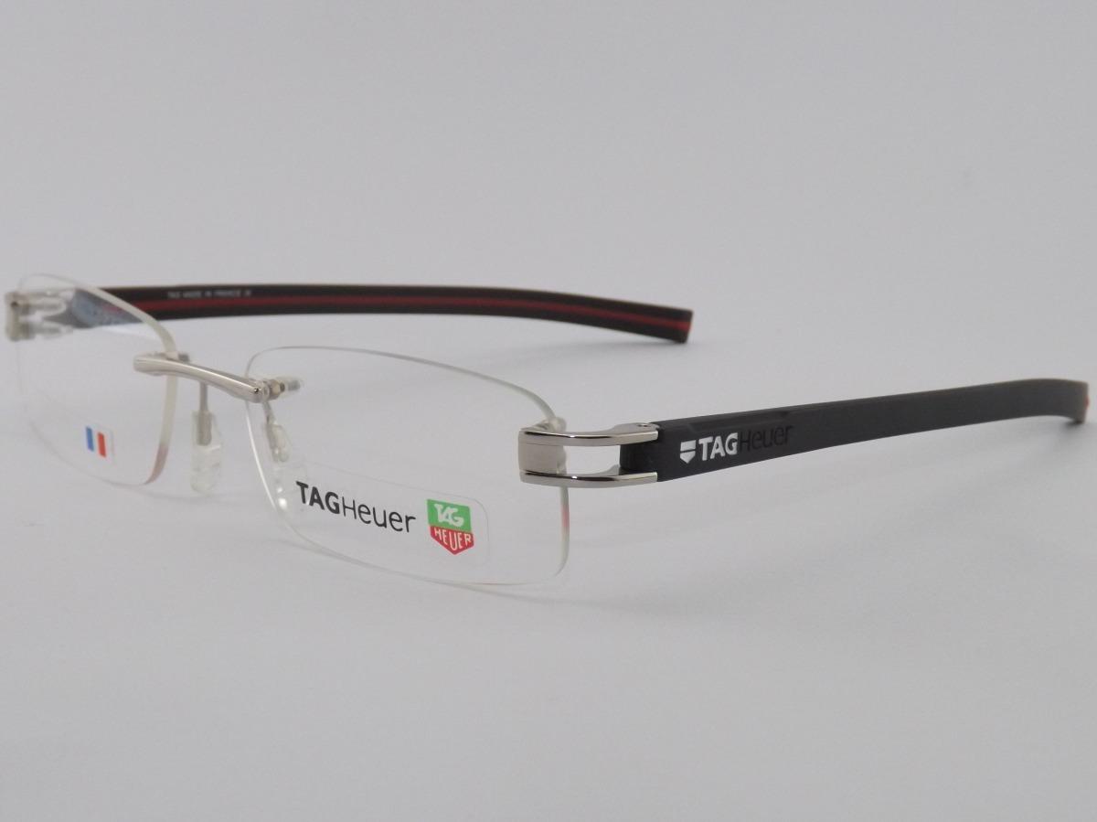 Armação P  Óculos De Grau Sem Aro Tag Heuer 7644 - R  189,00 em ... 51ed06c9c5