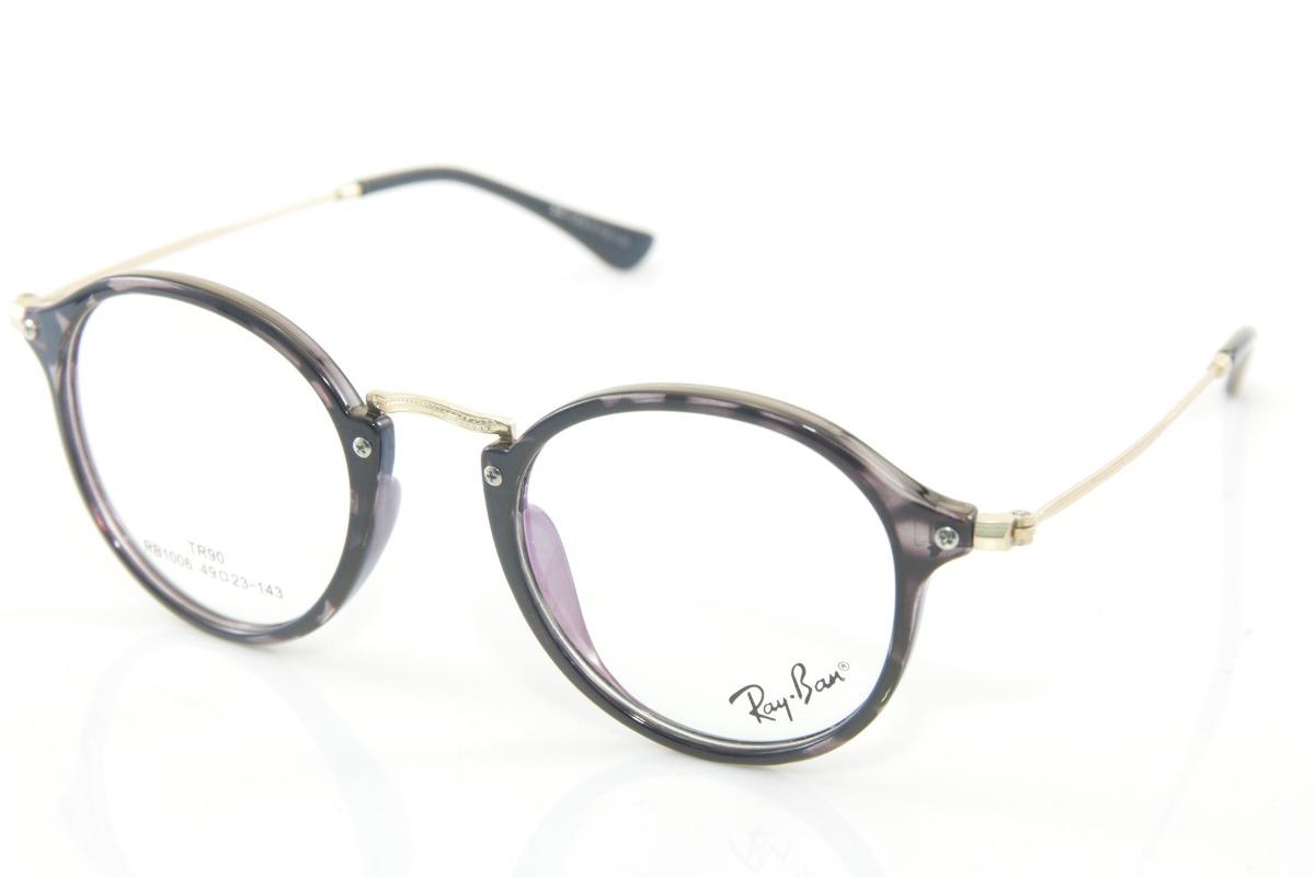 f374c10d764f6 armação p  óculos de grau unissex redondo rb retro geek. Carregando zoom.