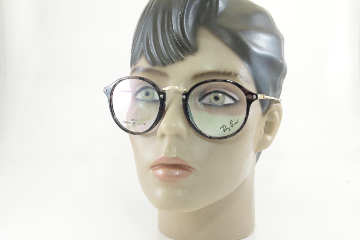 c591d8c79e86c armação p  óculos de grau unissex redondo rb retro geek. Carregando zoom.