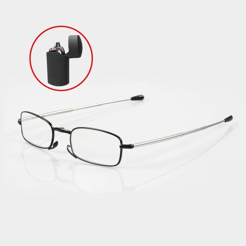 2e423ec2a42d5 Armação P  Óculos Dobrável Tipo Isqueiro Preto Swo - R  120,01 em ...
