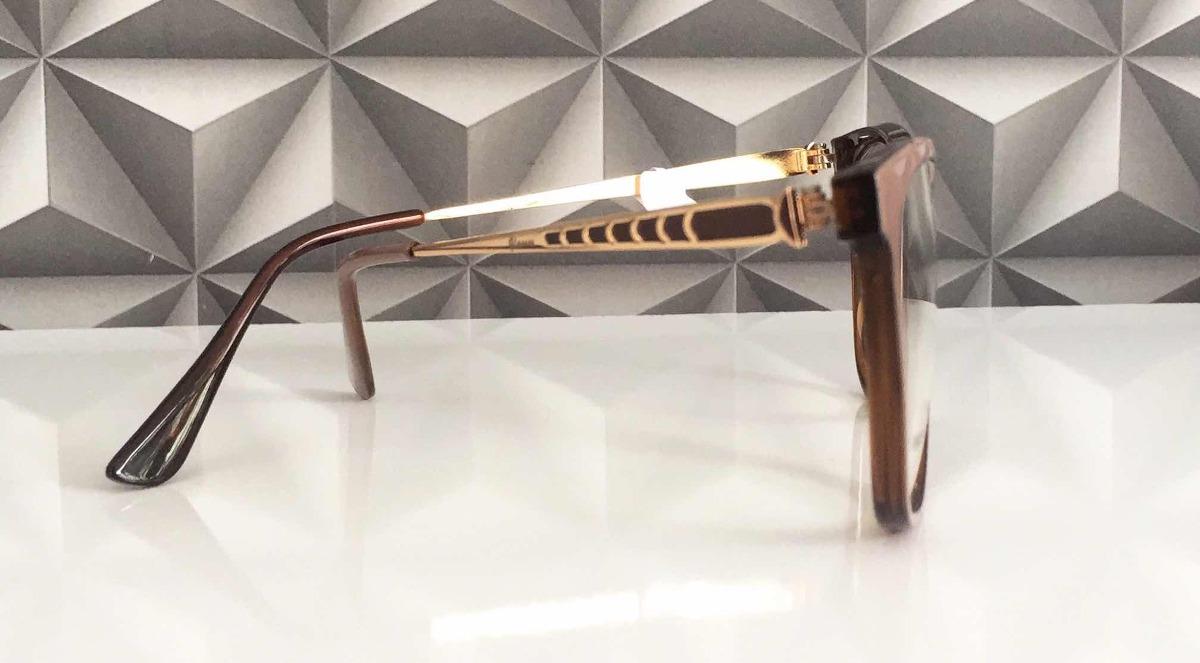 armação p  óculos grau feminino nude escuro c  marrom+fg. Carregando zoom. cce003cffc
