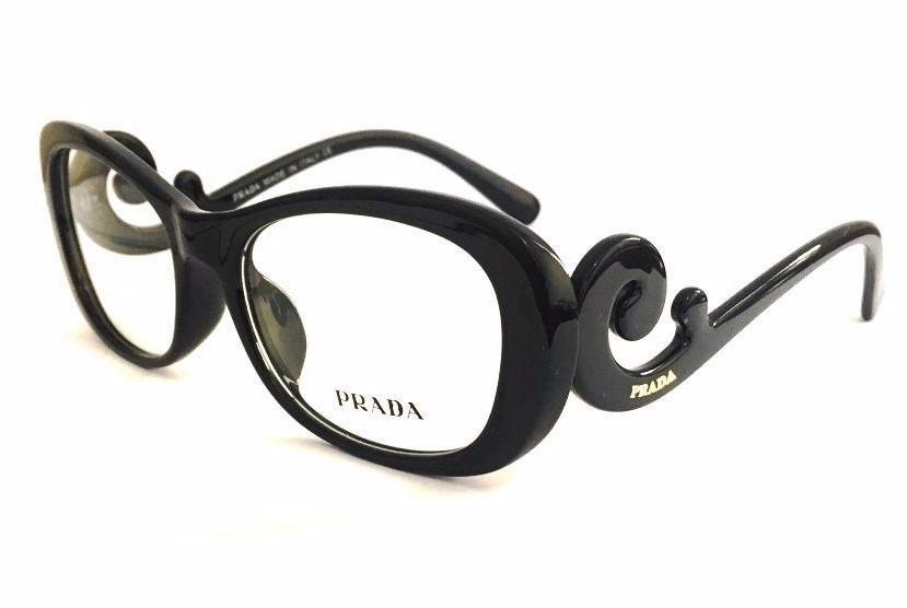 Armação P  Óculos Grau Pr2018 Baroque Preto Prime Luxo +case - R  69,25 em  Mercado Livre a0e15fbbaf