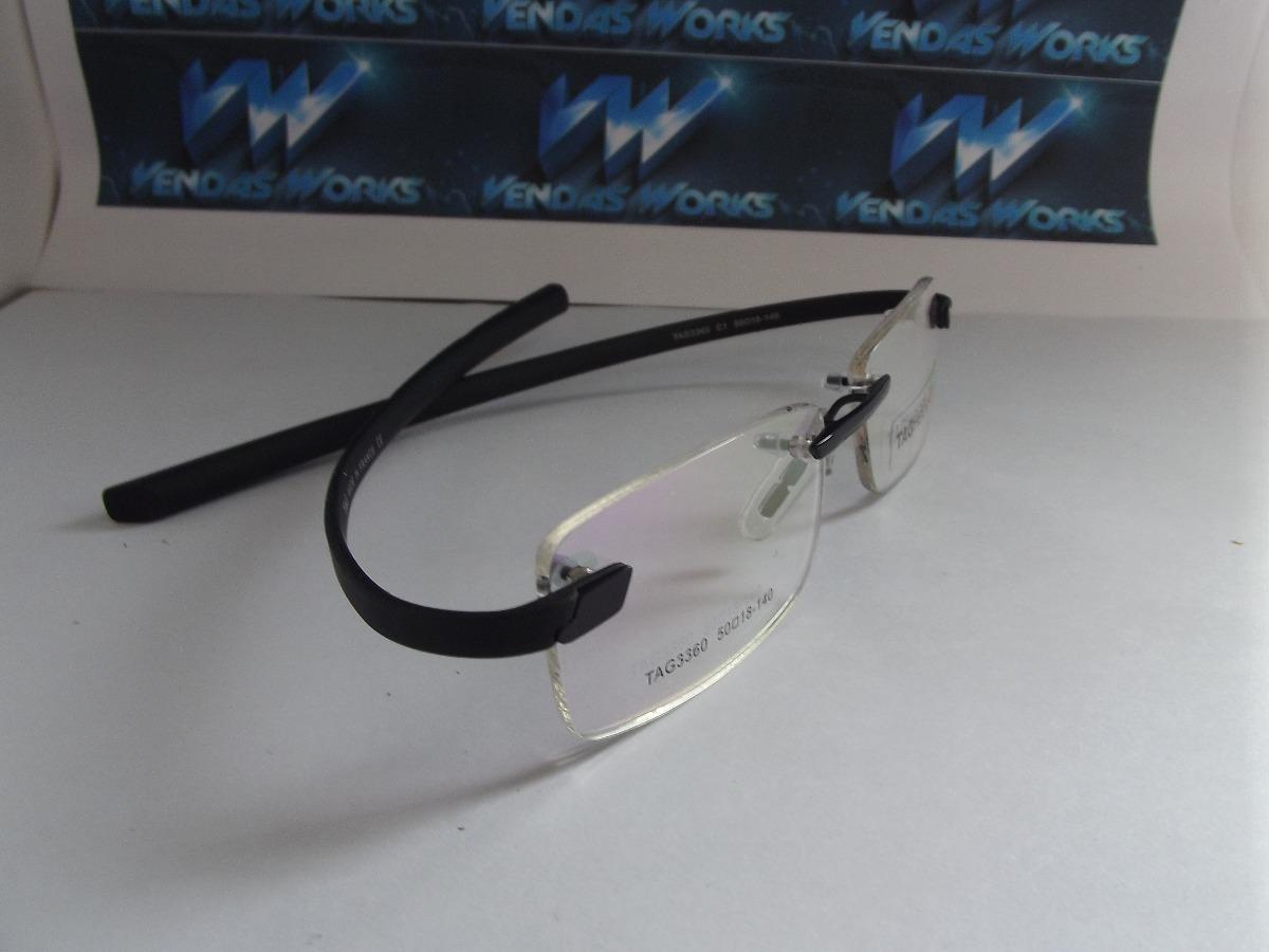 armação p  óculos grau, tag heuer tag3360 s  aro, envio já. Carregando zoom. 179b641104