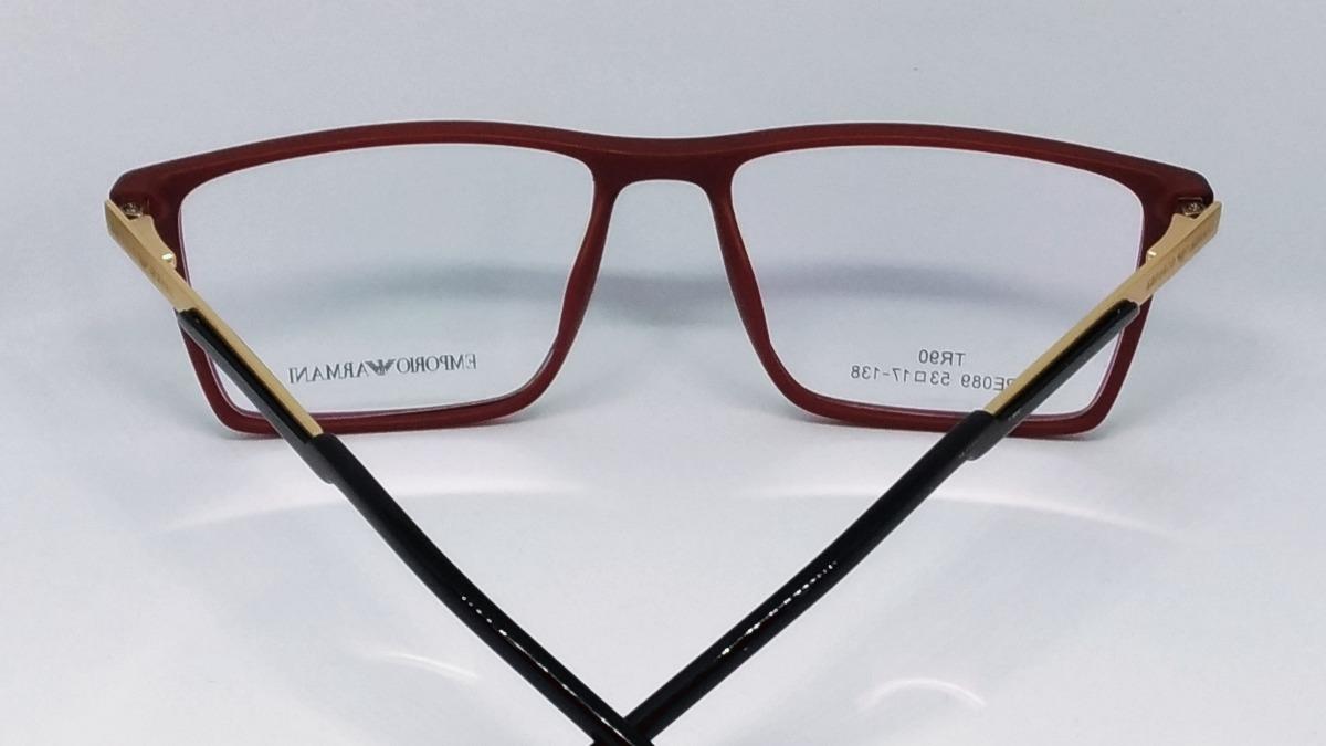 df8c4be5d4a39 armação p oculos masculino de grau armani tr90 modelo ea 138. Carregando  zoom.