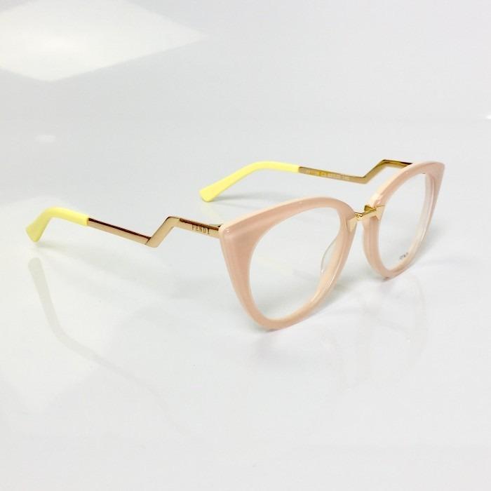 1bd8e4948eab4 Armação Para Grau De Grau Oculos Fendi Orchidea Ff0118 s - R  120