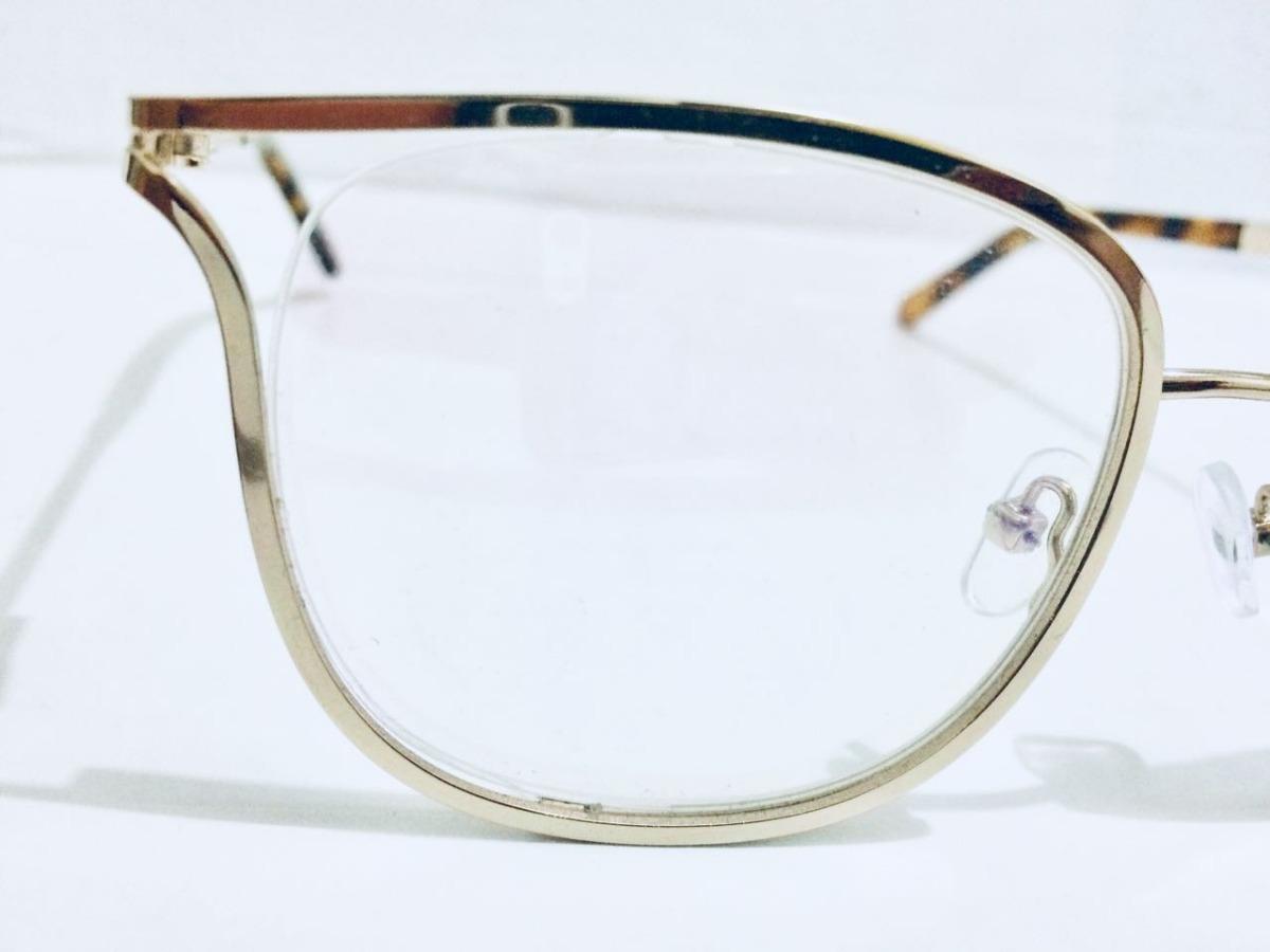 23204e100d8f2 armação para grau oculos novo chloe quadrado dourado -cl103. Carregando  zoom.